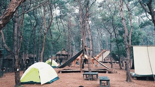 khu cắm trại gần hà nội;