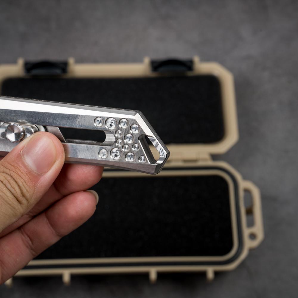 Tacray – Titanium Utility Knife – Lưỡi Thép Không Gỉ 9Cr18Mov