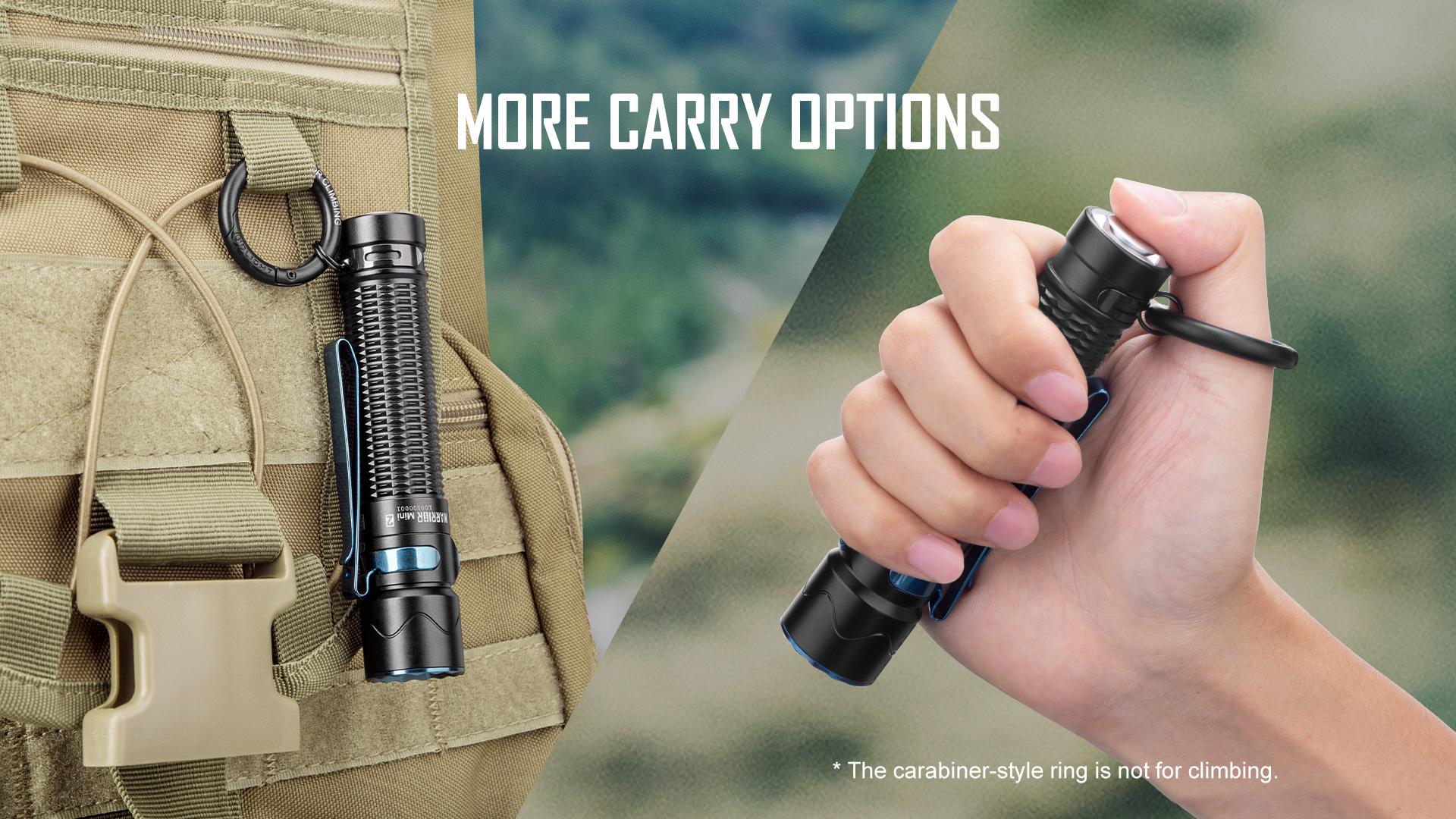 Carabiner Style-Ring là phụ kiện mà phiên bản cũ không có
