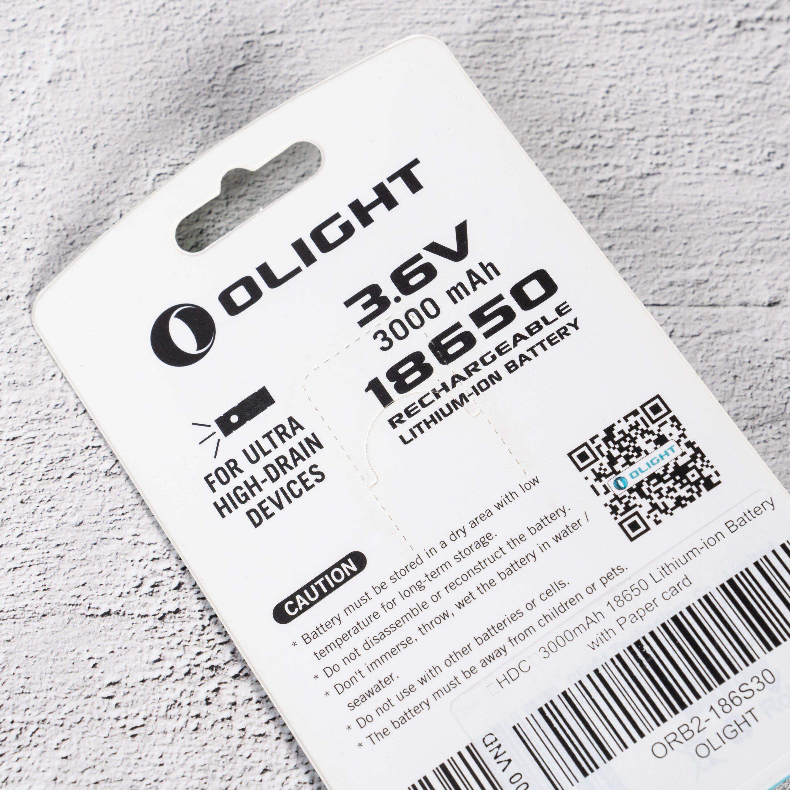 Pin Sạc Olight 18650 HDC 15A 3000 mAh